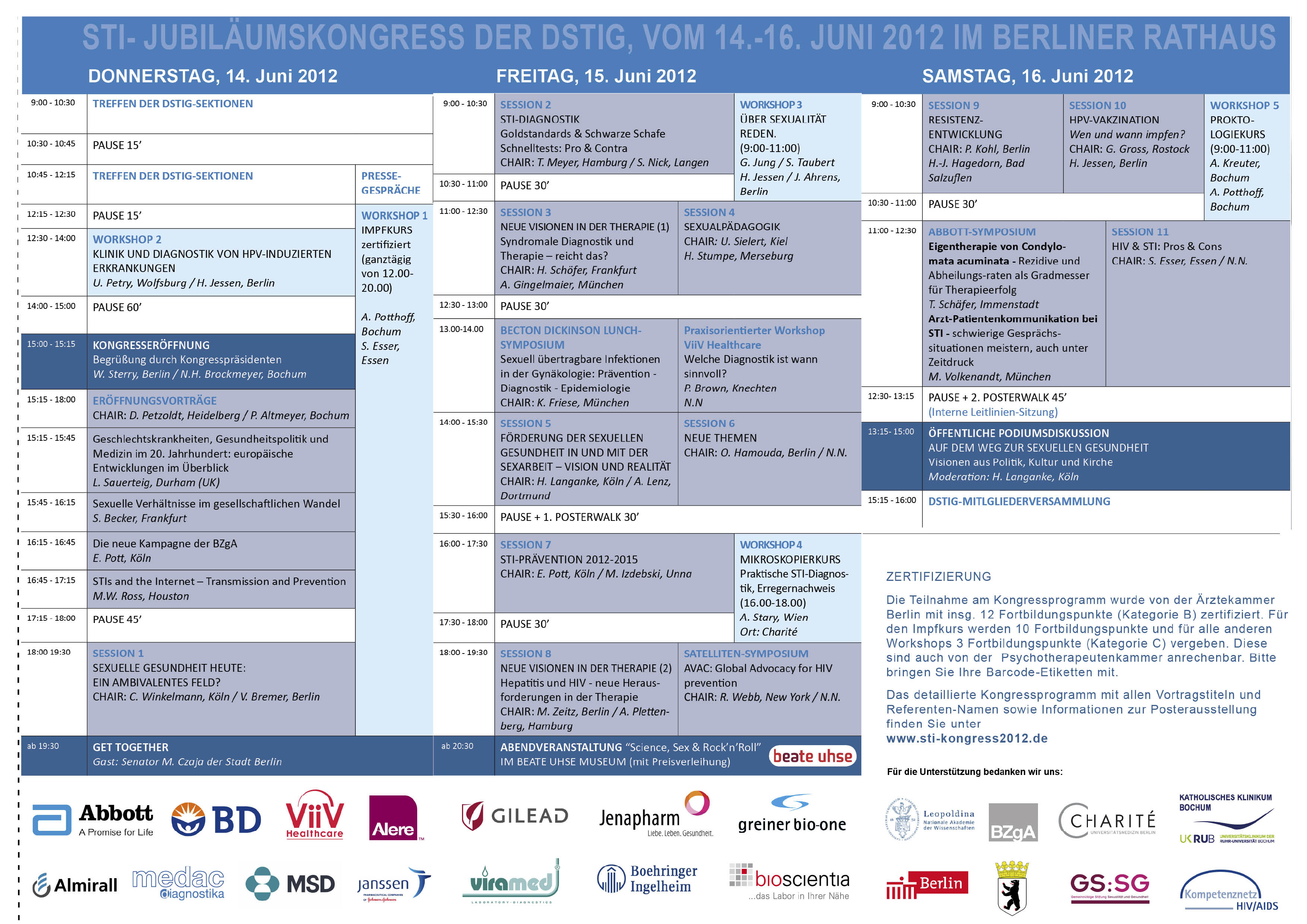 dstig-kongress 2012-program overview